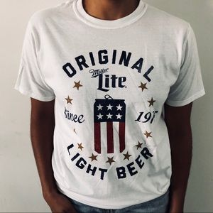 Urban Outfitters Miller Lite Can Beer Shirt *NEW*